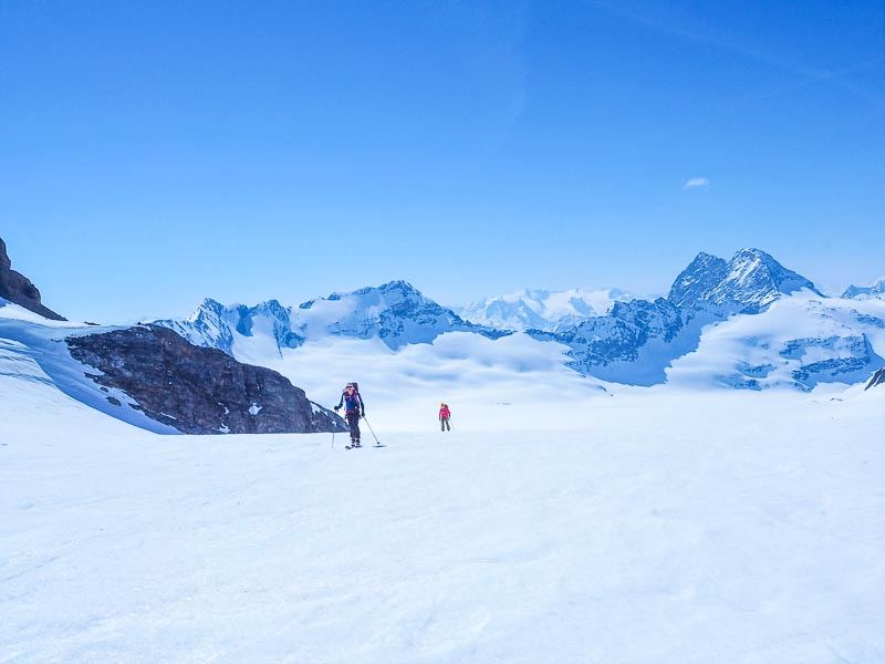 near the summit of Clariden