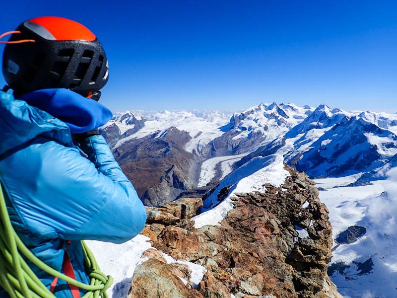 It's cold on the Matterhorn summit